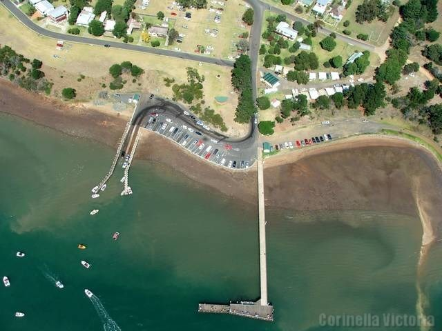 Birds Eye View Corinella Jetty and Boat Launching Ramp