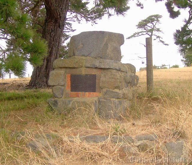 Memorial Cairn To the Early 1800's Settlers on Jamieson Street Corinella Victoria