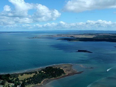 Views Of Corinella in the Foreground with  Pelican Island in centre view, then French Island to back with distant views of Phillip Island on Horizon